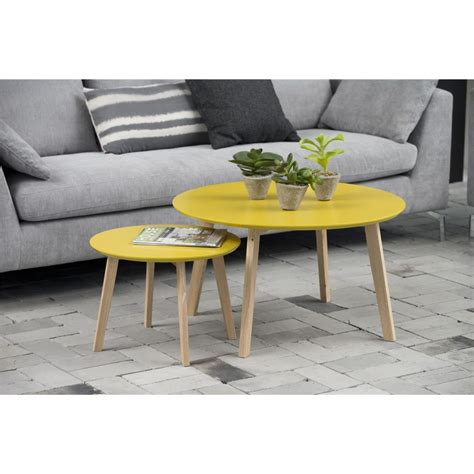 Table D Appoint Scandinave Table Basse Bolina Table D Appoint Scandinave Coloris Jaune Curry Mykaz