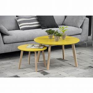 Table D Appoint Scandinave : table basse bolina petite d50cm table d 39 appoint scandinave coloris jaune curry mykaz ~ Teatrodelosmanantiales.com Idées de Décoration