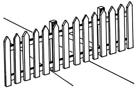 Free Picket Fence, Download Free Clip Art, Free Clip Art