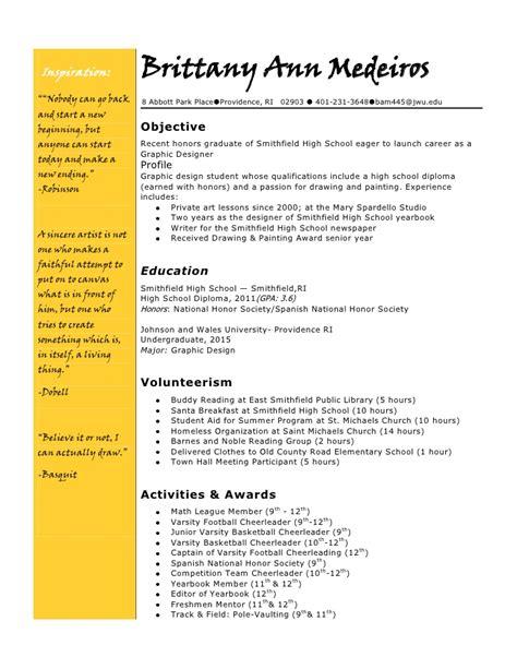 yearbook resume
