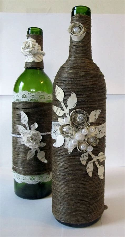 Decorate Wine Bottles - 34 awesome ideas for decorating with wine bottles