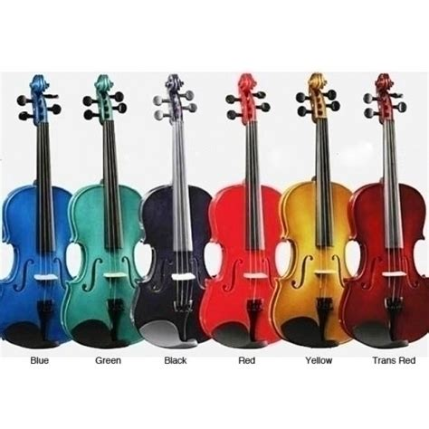 colored violins bright color performance violin package by 105