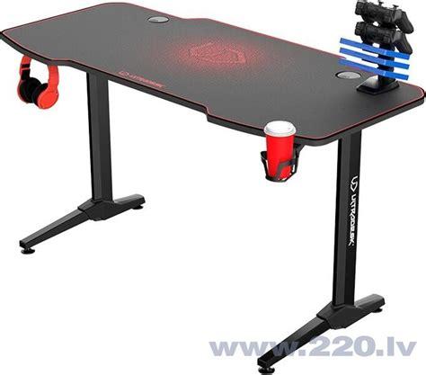 Spēļu galds Ultradesk Frag Red, melns/sarkans cena   220.lv