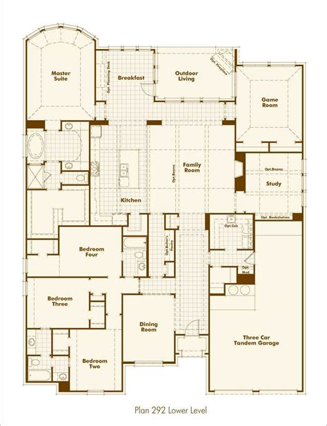 Highland Homes Floor Plans 921 by New Home Plan 292 In Prosper Tx 75078