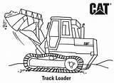 Coloring Caterpillar Loader Track Printables sketch template