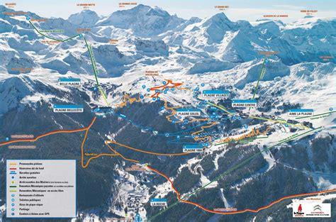 La Plagne cross-country skiing piste map - Alpski.com