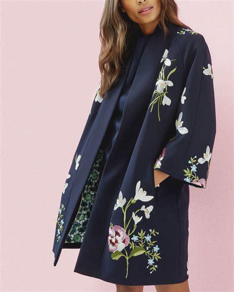 kimono jacket blue jackets coats