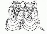 Coloring Shoes Shoe Pages Clipart Tennis Pair Outline Printable Running Gym Class Drawing Clip Dance Boots Cliparts Colouring Heel Nike sketch template