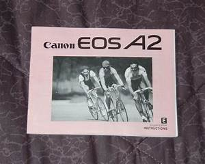 Canon Eos A2 Instruction Manual