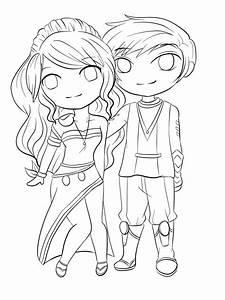 Lineart: Chibi Couple by RueYumi on DeviantArt
