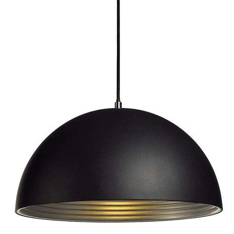 eclairage cuisine suspension suspension dôme alu noir intérieur argent le avenue