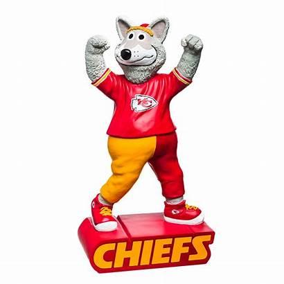Chiefs Mascot Kansas Nfl Statue Wolf Sports