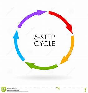 5 Step Cycle Diagram Stock Vector  Illustration Of