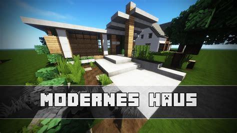 Kleines Modernes Haus Bauen  Minecraft Tutorial Youtube
