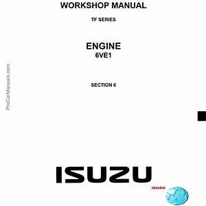 Isuzu Engine Tf Series 6ve1 3 5l Workshop Manual