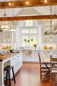 33 Stunning Kitchens Design With Exposed Wood Beams
