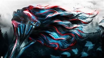 Neon Woman Wallpapers Dark Artwork Hair 2560
