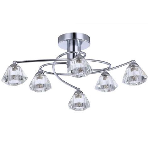 semi flush ceiling light 6 light chrome from