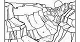 Canyon Grand Coloring Arizona Template sketch template