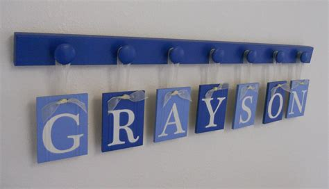 baby boy nursery decor hanging wall letters name grayson with