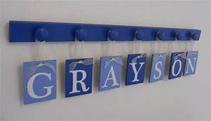 Baby boy nursery decor hanging wall letters name by for Nursery wall letters boy