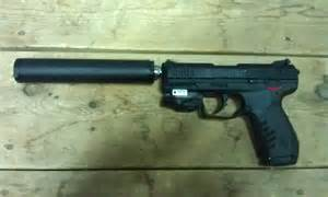 Ruger 22 Pistol with Suppressor