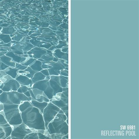 sherwin williams blue paint color reflecting pool sw