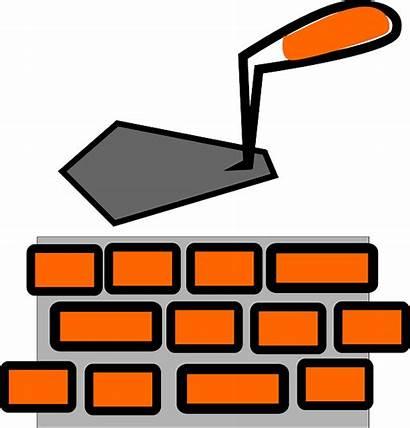 Brick Clipart Clip Laying Layer Bricks Wall