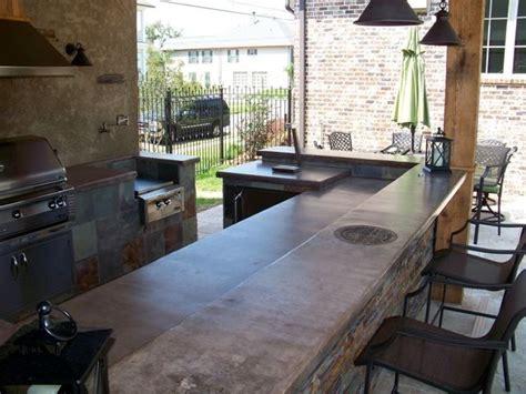 22+ Irresistible Outdoor Kitchen Concrete Countertops