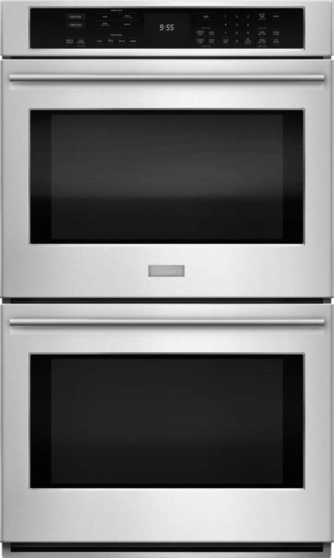 zetshss monogram  electric convection double wall oven stainless steel