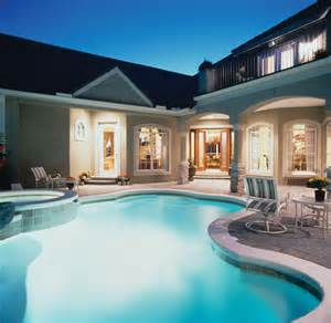 home with pool luxury house plan pool photo plan 047d 0168 house plans and more