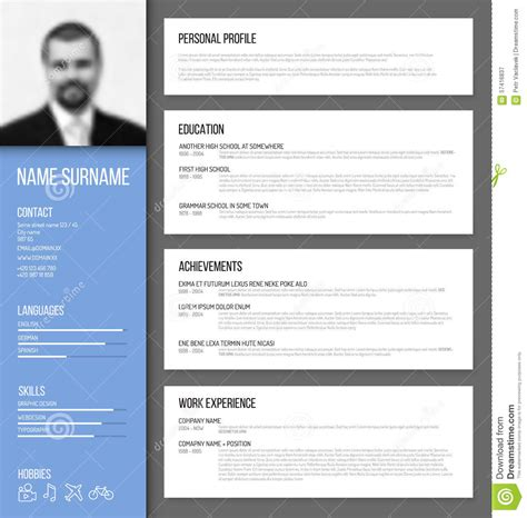 modern resume cv template 2017 2018 best cars reviews