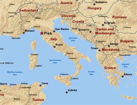 maps of pisa