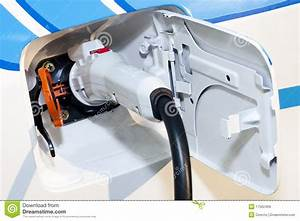 Close Up Of A Hybrid Electric Car Plug Royalty Free Stock Images