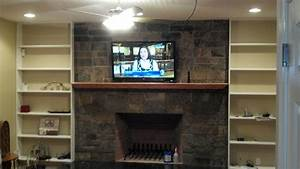 Branford CT mount tv above fireplace Home Theater