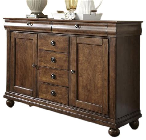 Rustic Sideboards Furniture by Liberty Furniture Rustic Tradition Server Rustic Cherry