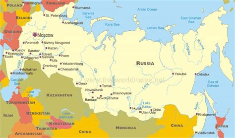 map  russian cities map russian cities eastern europe