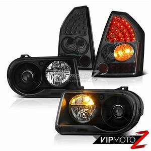 2005 2006 2007 Chrysler 300c Srt8 Clear  Black Headlights