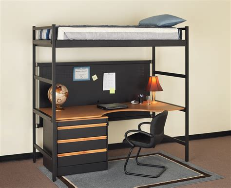 bunk bed desk combination loft bed desk combo furniture homesfeed
