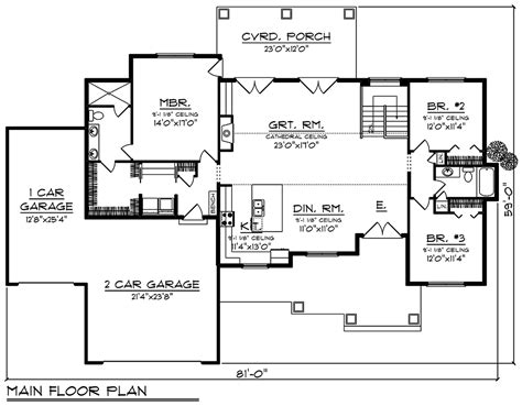House Plan 75456 Traditional Style with 1921 Sq Ft 3