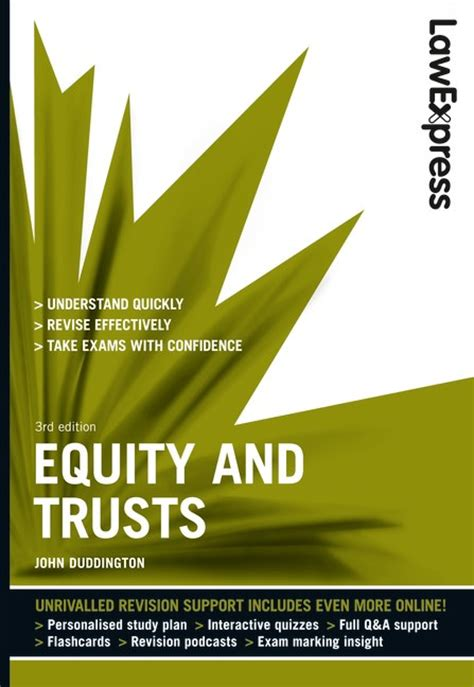 Pearson Education  Law Express Equity And Trusts