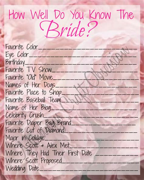 To Play At A Bridal Shower - she said yes diy printable bridal shower we re