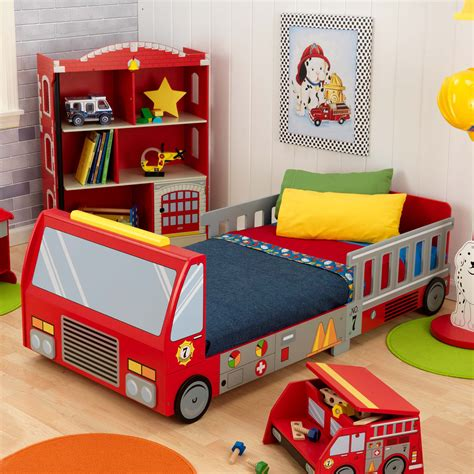 Kidkraft Fire Truck Toddler Bed 76021 Toddler Beds At