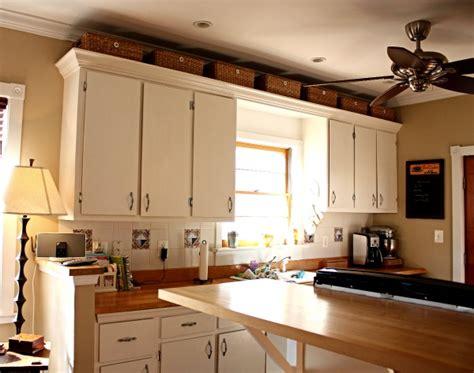 above kitchen cabinet storage ideas baskets above kitchen cabinets for the home 7392