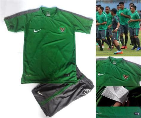 jual setelan jersey timnas indonesia hijau grade ori official setelan futsal di lapak