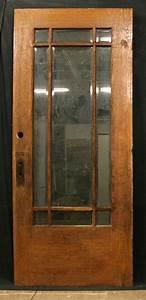 "36""x84"" Antique Exterior Entry White Oak Wood Door 9 ..."