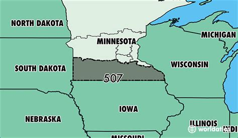 Where Is Area Code 507 / Map Of Area Code 507 / Rochester ...
