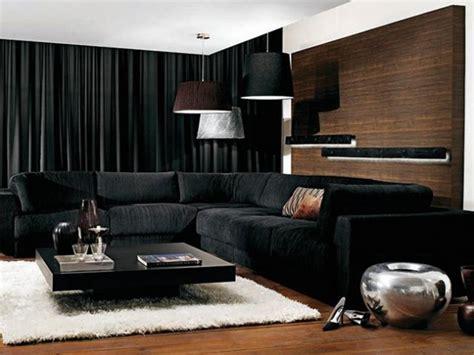 stylish interior designs  black curtains