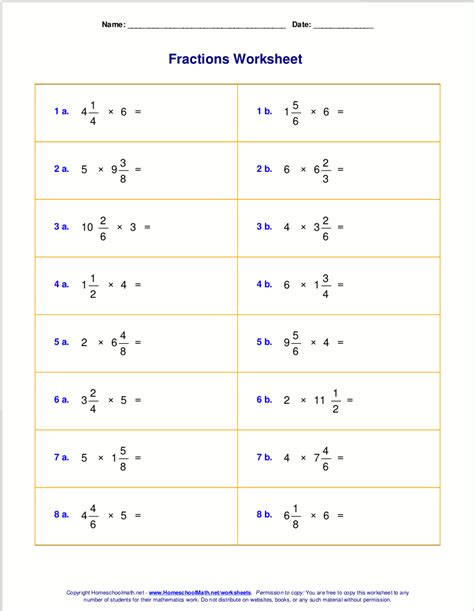free improper fractions and mixed number worksheet