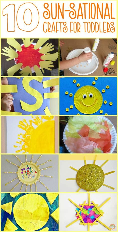 10 Easy Sun Themed Crafts for Toddlers and Preschoolers ...